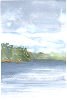 Another Clear Lake 2012 Plein Air sketch by unSpookyLaughter