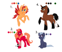 Free Adoptables: Ponies(Closed) by Flufferton-McFluffs