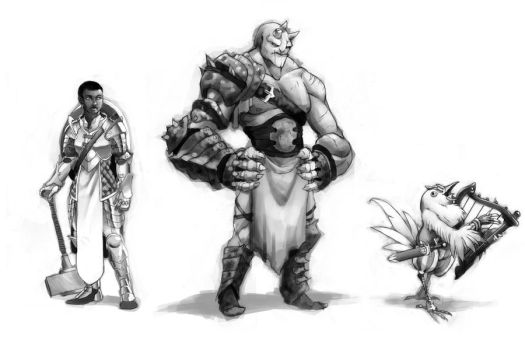 Character lineup by TravJames