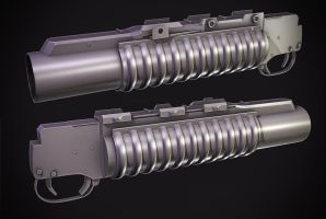 M203 Grenade launcher by Tom3dJay