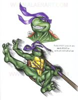 Flying Action Kick Donatello S by alaer