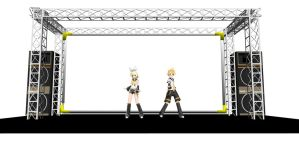 MMD  live stage by frede15