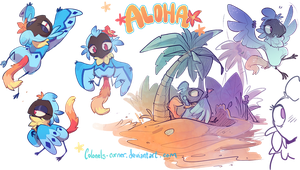 Aloha Sketchpage by Colonels-Corner