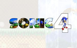 Sonic 4 Wallpaper by darkfailure