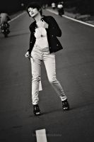 sofie on the street by meemographic