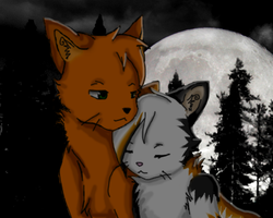 .:Fireheart and Spottedleaf:. by WhatTheFoxBecca
