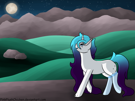 # Finished YCH - A beautiful night by PinkPlushChicken