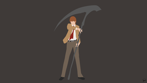 Light Yagami (Death Note) Minimalist Wallpaper by greenmapple17