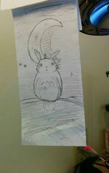 Totoro Sketch (2016) by StoneBengal