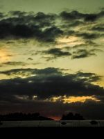 Evening View of Colourful Skies June 2012 by welshrocker