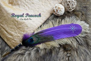 """Royal Peacock"" Dip Quill Pen by Ashalind"