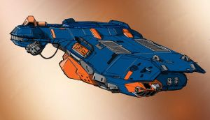 Homeworld 2 Corvette by Original-Henceman
