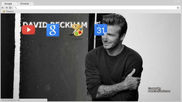 DAVID BECKHAM Google Chrome them(www.techiee9.com) by Techiee9