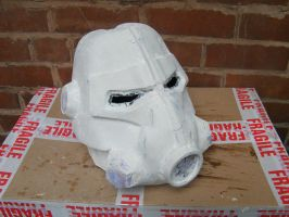 WIP Brotherhood of steel T-45d Helmet 3 by chanced1