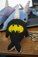 Batman Narwhal Custom by BeeZee-Art