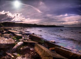Colleywell Bay - Pano by Wayman