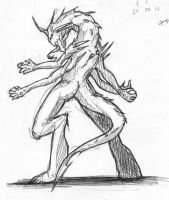rough monster sketch by Windam