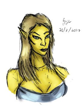 Altmeric Woman sketch by ScarecrowofQC