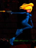 SAMUS ON THE RUN by lordcoyote