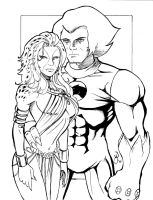 Lion-O and Cheetara by MichaelPowellArt