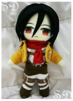 Mikasa Ackerman - SD by renealexa-plushie