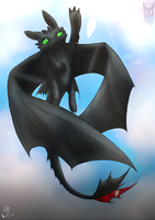 Toothless Collab by BlackPantherPira