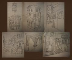 Venice Sketches by LauraTolton