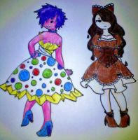 Jolly Rancher and Godiva close up by XangelxofxdarknessX
