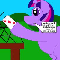 Twilight Sparkle's House of Cards (Redraw) by MasterYubel