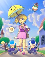 A stroll in Toad Town by TheBourgyman