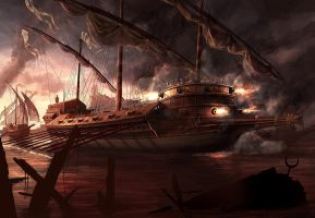 Battle Of Lepanto by RadoJavor