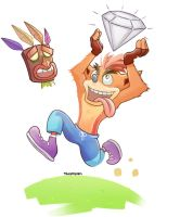 Crash Bandicoot by thegreyzen