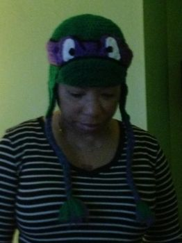 Crochted Donatello Hat by AMTMGIRL