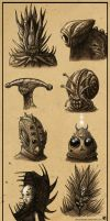 Aliens /Concept Sketches/ by UnicatStudio