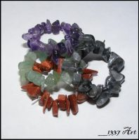 Gemstone Chip Wine Charms by 1337-Art