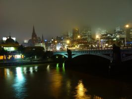 Melbourne by night by S-moon
