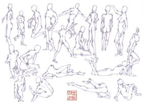 30 second gestural studies II by Hideyoshi