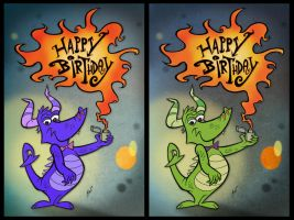 Birthday Dragons by HammersonHoek