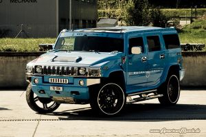 Light Blue Hummer H2 by AmericanMuscle