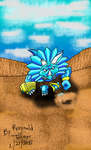 Spike Charging In Desert Canyon by reg92