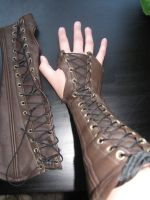 Leather Bracers by CaptainMorganTeague