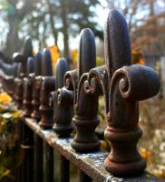 Graveyard Fence by egypt-rai