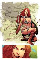 Red Sonja Sample color by adrianocastro