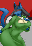 Amber Lucario - Keyhole Turtleneck by Aleronssword