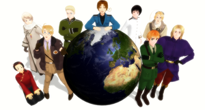 Hetalia Cast large version by Pianodream