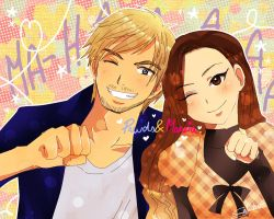 Pewds and Marzia~ by Sakudrew