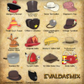 All new Team Fortress 2 hats by evaldasmix