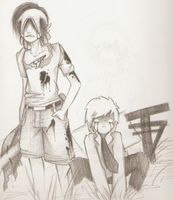 Shibito Brian and Zombie Chad. by iNiko