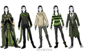 Loki Outfits by Batwynn