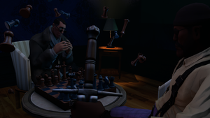[WIP] Concept Art for Project HACKER - Chess Room by EmulatedAbsurdity